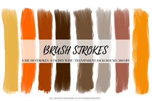 Halloween Brush Strokes Clipart