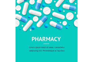 Pharmacy Therapy Flyer Banner Poster