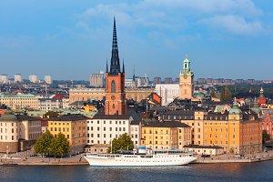Panorama of Gamla Stan in Stockholm