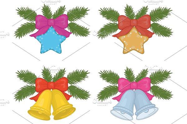 Christmas decorations, set