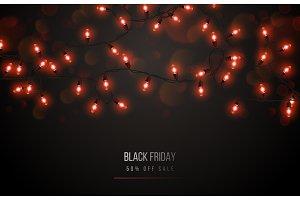 Black Friday with light bulbs