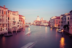 Panorama of Grand canal in Venice