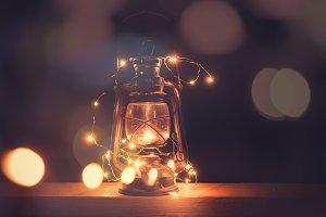 Vintage retro lantern