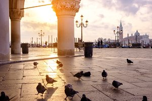 Sunrise at San Marco square