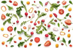 Pattern of fresh vegetables