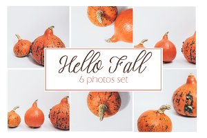 Hello Fall Photo Set║Pumpkins