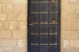 Vintage patterned door