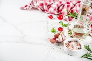 Cooking ingredients background