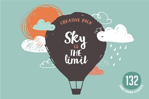 Hand drawn creative pack