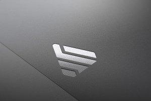 Logo Mockup Silver & Gold 3 - PSD