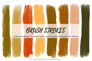 Halloween Brush Strokes Clipart