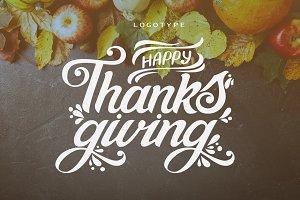 Happy Thanksgiving Logotype
