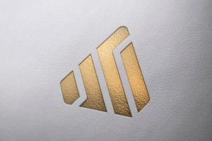 Logo Mockup Leather - PSD