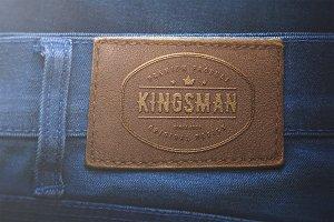Logo Mockup Label Jeans - PSD