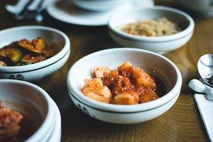Korean bowl of fermented vegetables