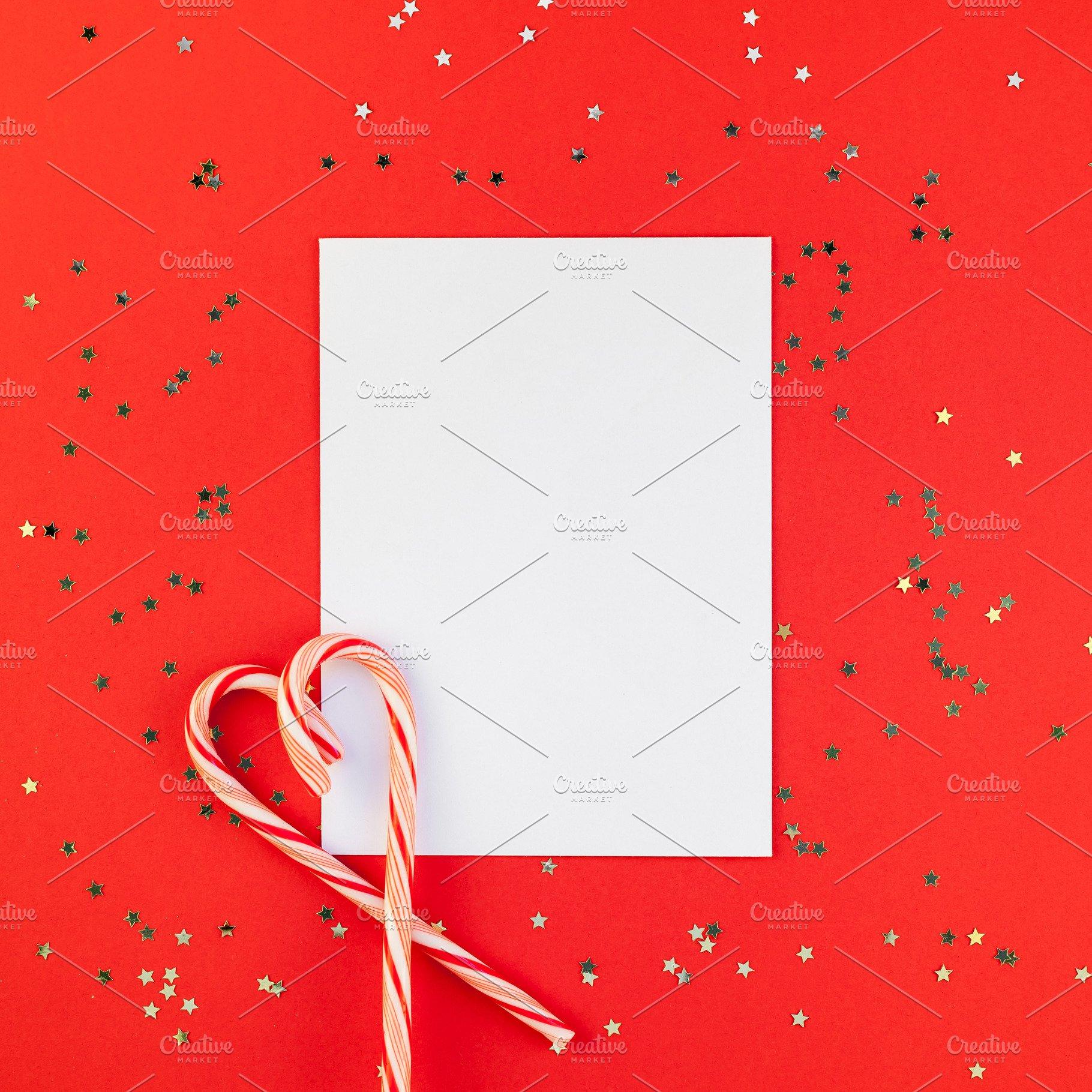 Christmas Greeting Postcard Mockup W Holiday Photos Creative