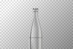 Glossy glass jar bottle