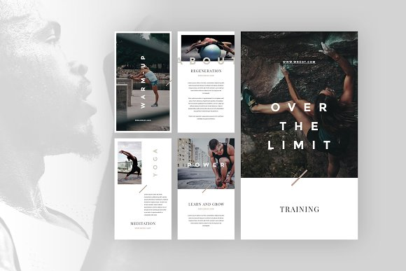 Workout Canva Social Media Pack in Instagram Templates - product preview 4