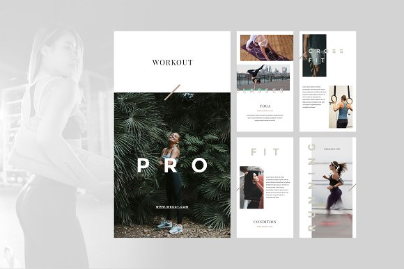 Workout Canva Social Media Pack in Instagram Templates - product preview 5
