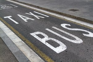 Bicycle-Bus-Taxi reserved lane