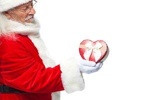 Christmas. Santa Claus in white