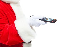 Christmas. Close-up. Santa Claus in