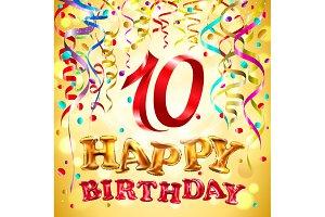 vector Happy birthday 6 - 10 years