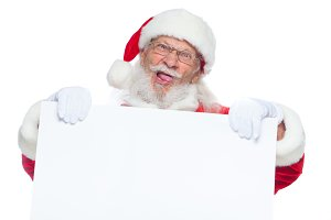 Christmas. Evil Santa Claus in white