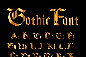 Set of gothic fashion letters