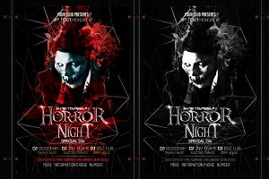 Horror Night Halloween Flyer