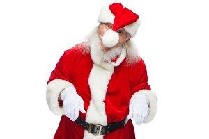 Christmas. Santa Claus fooling