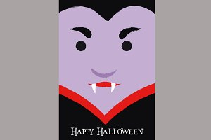 Cute Vampire Cartoon Poster