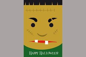 Cute Frankenstein Cartoon Poster