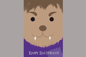 Cute Werewolf Cartoon Poster