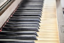 Close up of a piano keyboard by  in Arts & Entertainment