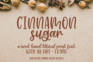 Cinnamon Sugar Script Font