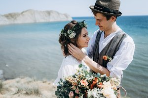 Cosy summer sea wedding