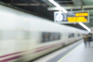 Defocused underground train station
