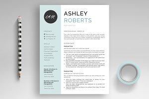 "Resume Template ""Ashley"" + Bonus"
