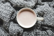 A cup of hot cocoa with milk by  in Food & Drink