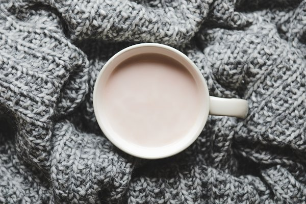 Food Stock Photos - A cup of hot cocoa with milk