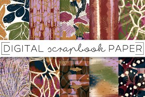 Jewel Toned Abstract Paper Set