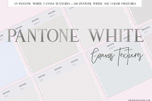 Pantone White Canvas Textures