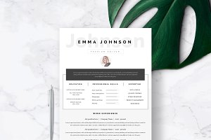"Resume Template 1 page | ""Sydney"""