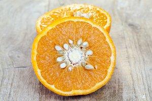 half-cut orange