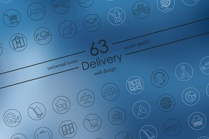 63 DELIVERY icons
