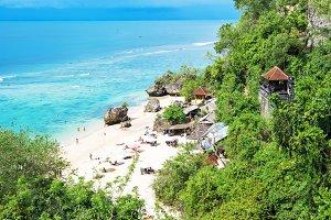 Beautiful tropical sand beach Blue s