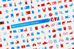 247 VETERINARY stickers