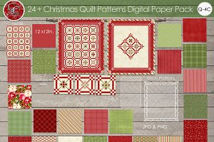 24 Plus Christmas Patterns Papers