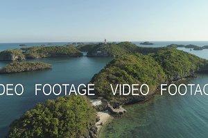 Set of islands in sea. Philippines.
